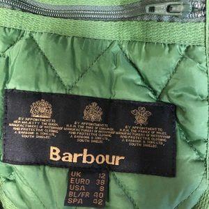 Barbour green women's vest size 12